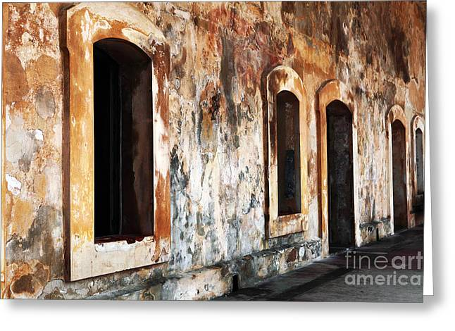 Old San Juan Greeting Cards - Fort Interior Greeting Card by John Rizzuto