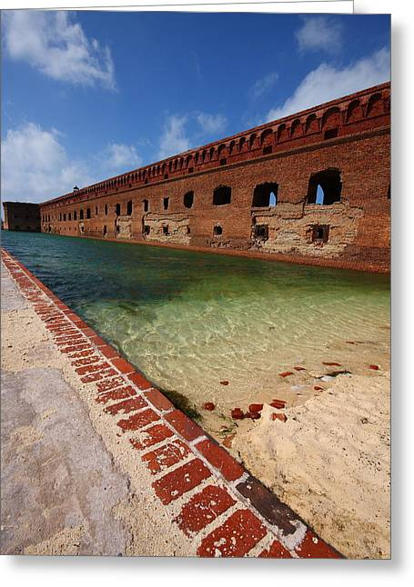 Dry Tortugas National Park Greeting Cards - Fort Jefferson at Dry Tortugas National Park Greeting Card by Jetson Nguyen