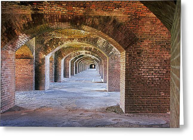 Dry Tortugas Greeting Cards - Fort Jefferson Greeting Card by Buddy Mays