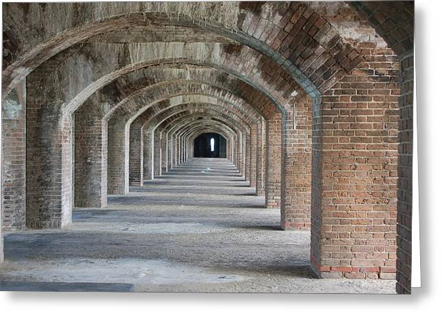 Dry Tortugas Greeting Cards - Fort Jefferson Arches Greeting Card by Christopher James