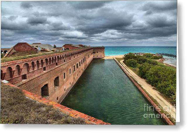 Dry Tortugas National Park Greeting Cards - Fort Jefferson Moat Greeting Card by Adam Jewell