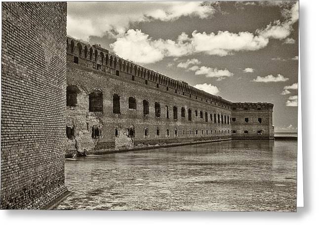 Fort Jefferson Greeting Card by Patrick M Lynch