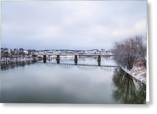 Bill Cannon Photography Greeting Cards - Fort Jenkins Bridge Pittston PA Greeting Card by Bill Cannon