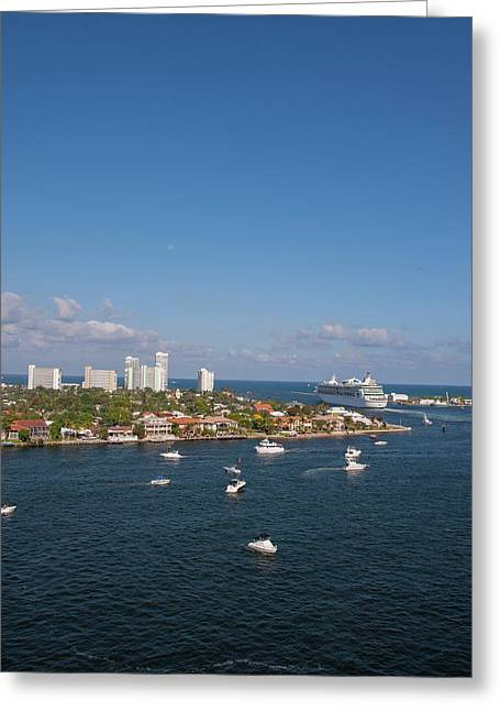 Fort Lauderdale, Port Everglades Greeting Card by Jim Engelbrecht