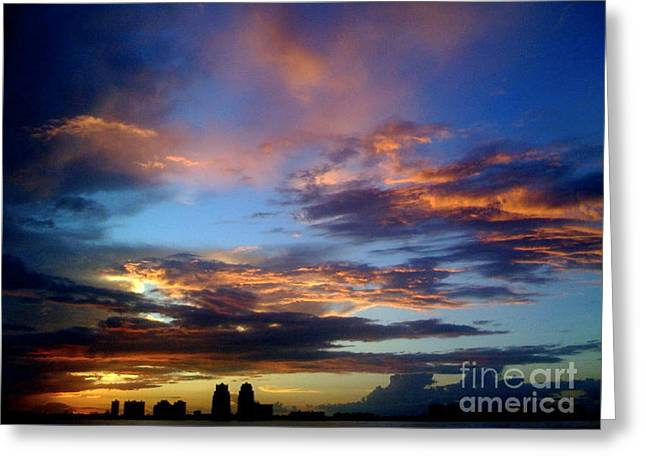 Danielle Perry Greeting Cards - Fort Lauderdale Sunset Greeting Card by Danielle  Perry