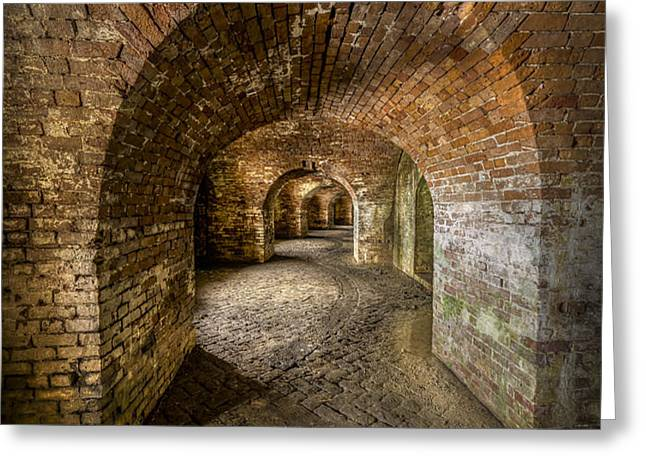 Fort Macomb Arches Vertical Greeting Card by David Morefield