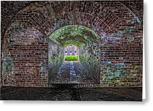 Slidell Greeting Cards - Fort Macomb tunnel Greeting Card by Andy Crawford