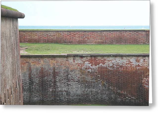 Civil War Battle Site Greeting Cards - Fort Macon 13 Greeting Card by Cathy Lindsey