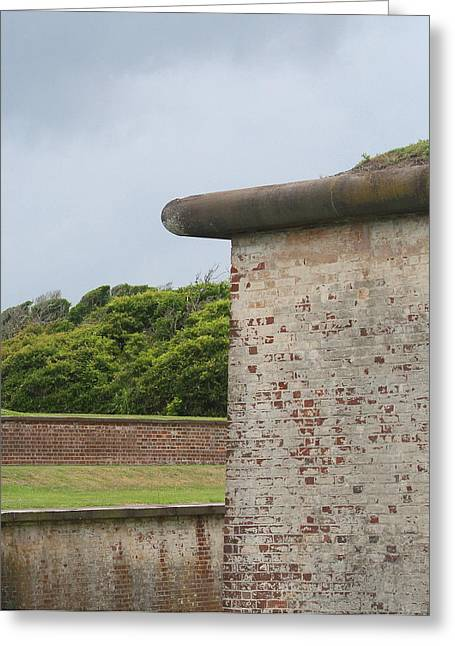 Civil War Battle Site Greeting Cards - Fort Macon 2  Greeting Card by Cathy Lindsey
