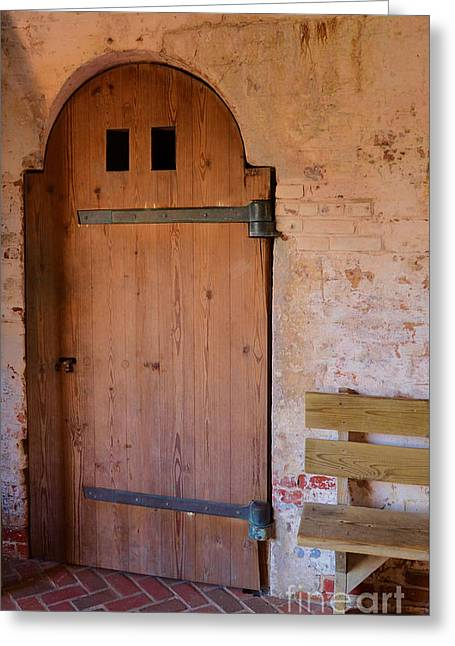 Peaceful Scene Greeting Cards - Fort Macon Door Greeting Card by Bob Sample