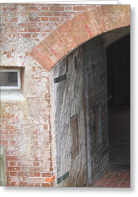 Civil War Battle Site Greeting Cards - Fort Macon Entrance 2 Greeting Card by Cathy Lindsey