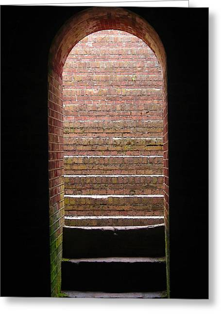Civil War Battle Site Greeting Cards - Fort Macon Tunnel Greeting Card by Cathy Lindsey