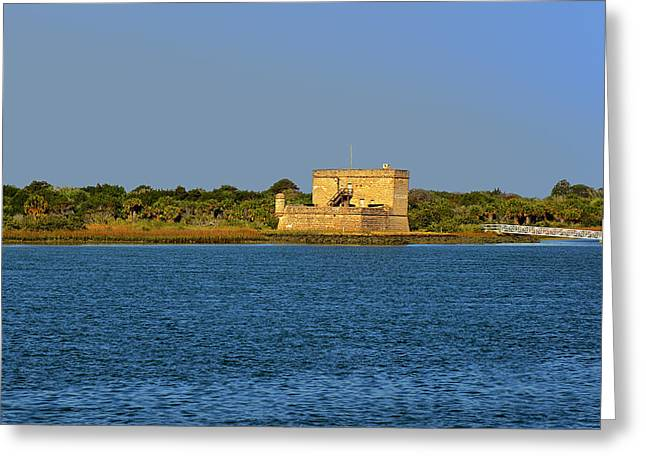 Cannon Greeting Cards - Fort Matanzas - Saint Augustine Florida Greeting Card by Christine Till
