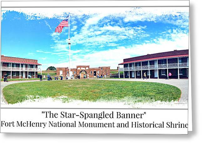 Francis Greeting Cards - Fort McHenry Panorama Greeting Card by Stephen Stookey