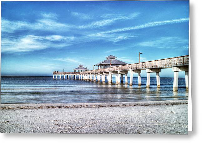 Fort Meyers Greeting Cards - Fort Meyers Pier Greeting Card by William Ragan