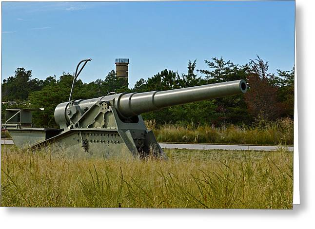 8 Mile Greeting Cards - Fort Miles 8 Inch Gun and FCT7 Greeting Card by Bill Swartwout