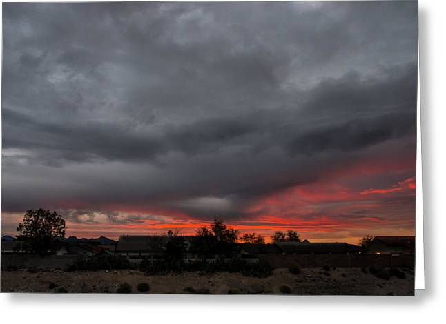 Fort Mohave Sunrise Greeting Card by Glenn DiPaola