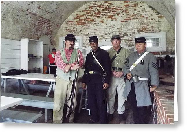 Colonial Actors Greeting Cards - Fort Moran Mess Hall Greeting Card by Cindy Croal