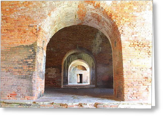 """post Civil War"" Greeting Cards - Fort Morgan Greeting Card by Frank Hearron"