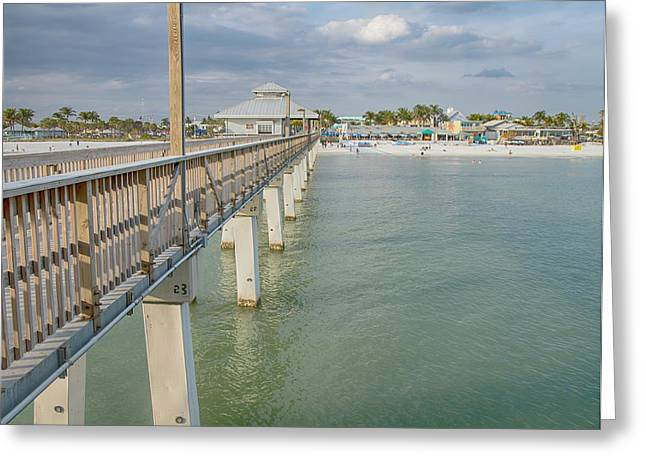 Kim Photographs Greeting Cards - Fort Myers Beach Greeting Card by Kim Hojnacki