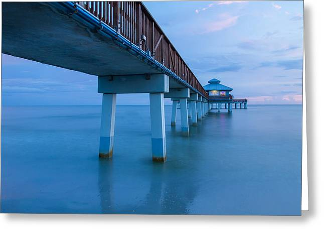 Saltlife Greeting Cards - Fort Myers Beach Pier Greeting Card by Doug McPherson
