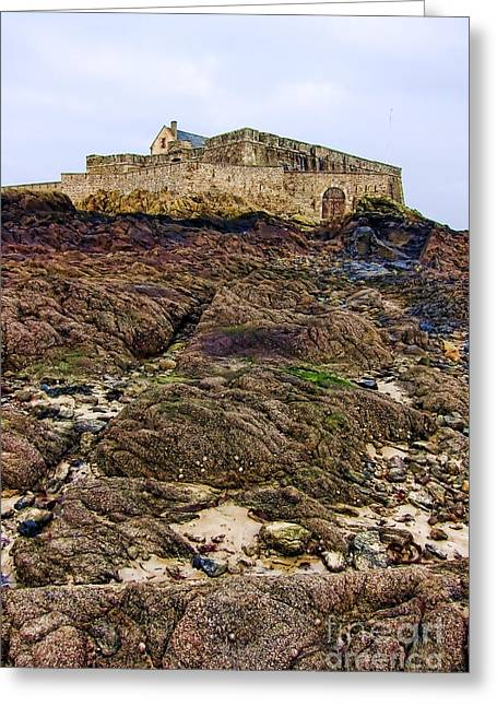 Compounds Greeting Cards - Fort National in Saint Malo Brittany Greeting Card by Olivier Le Queinec