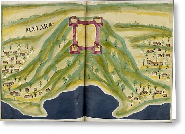 Fort Of Matara Greeting Card by British Library
