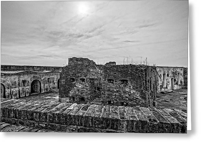 Historic Greeting Cards - Fort Pike bastion 2 Greeting Card by Andy Crawford
