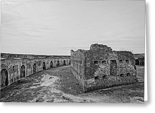 Civil War Site Greeting Cards - Fort Pike bastion Greeting Card by Andy Crawford