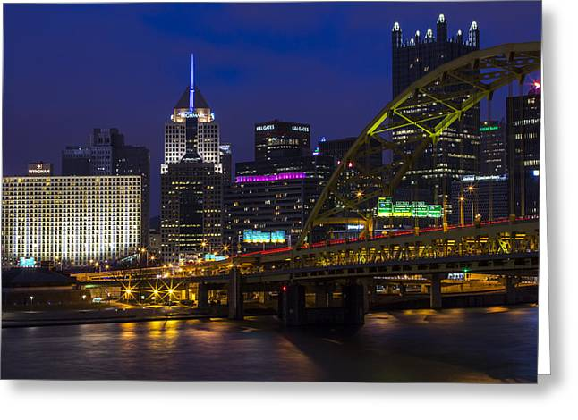 5th Avenue Place Greeting Cards - Fort Pitt View Greeting Card by Jennifer Grover