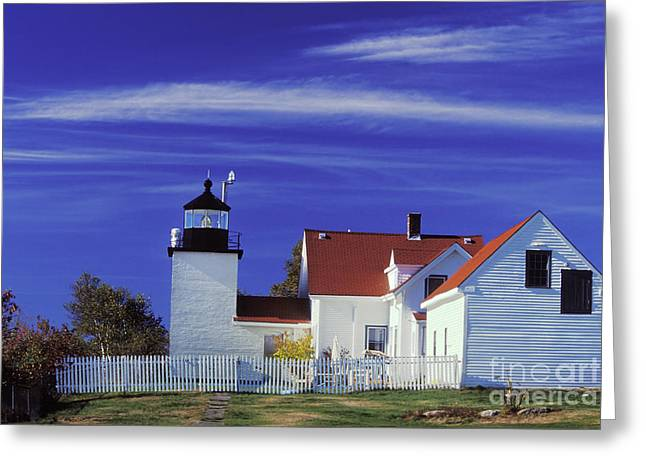 Fort Point Light Greeting Card by Jim Block