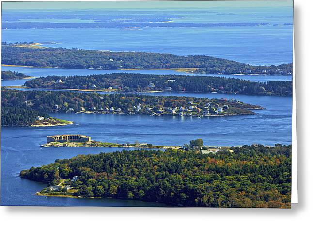 Maine Landscape Greeting Cards - Fort Popham, Georgetown Greeting Card by Dave Cleaveland