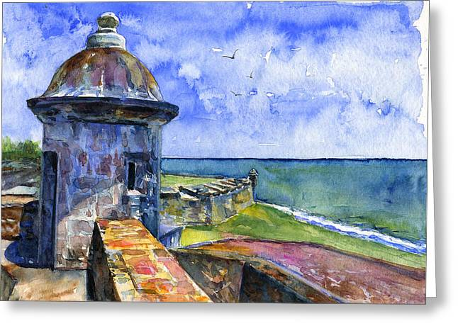San Juan Puerto Rico Greeting Cards - Fort San Juan Puerto Rico Greeting Card by John D Benson