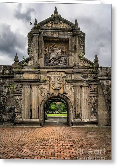 Cobble Stone Greeting Cards - Fort Santiago Greeting Card by Adrian Evans