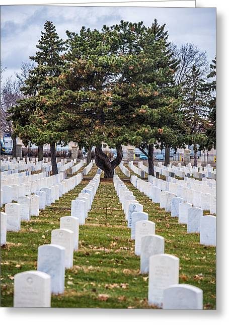 Minnesota Art Greeting Cards - Fort Snelling National Cemetery Greeting Card by Paul Freidlund