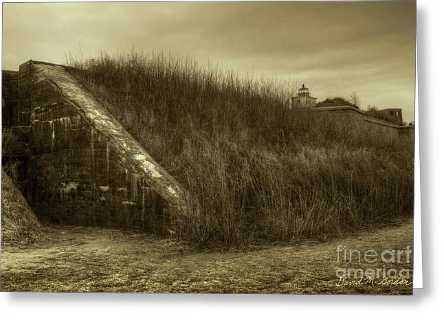 Civil War Site Photographs Greeting Cards - Fort Taber No. 1 Greeting Card by David Gordon