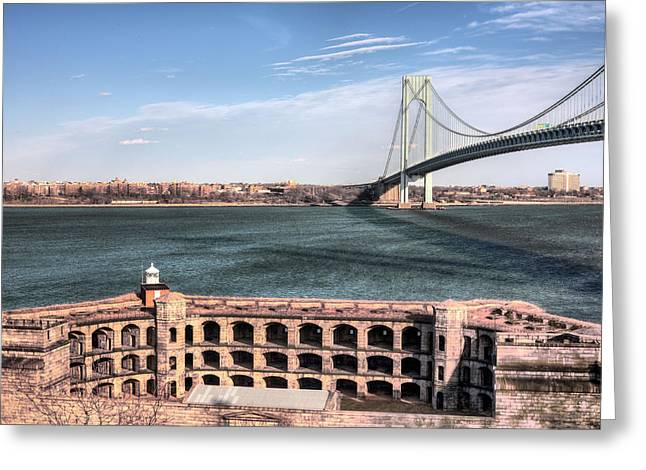 Armory Greeting Cards - Fort Wadsworth  Greeting Card by JC Findley
