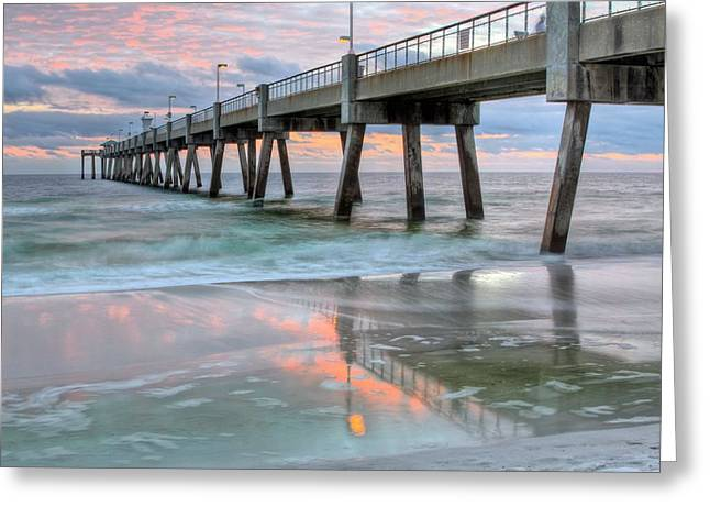Florida Panhandle Greeting Cards - Fort Walton Beach Greeting Card by JC Findley