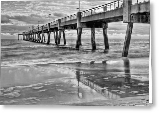 Florida Panhandle Greeting Cards - Fort Walton Beach Pier Greeting Card by JC Findley