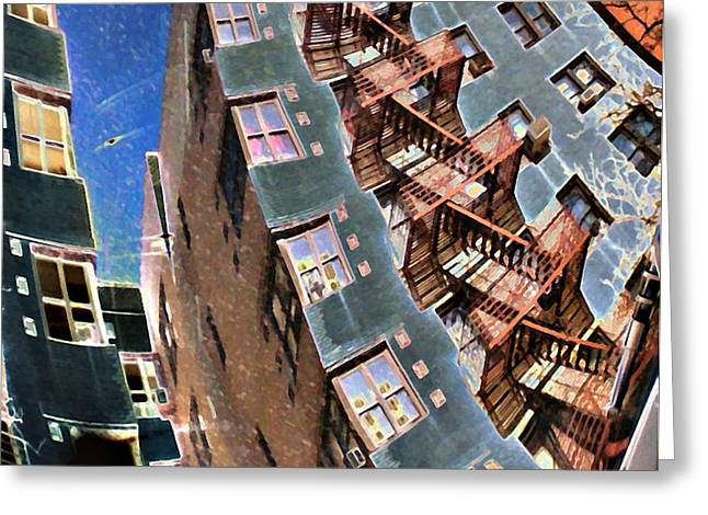 Fort Washington Avenue Building Greeting Card by Sarah Loft