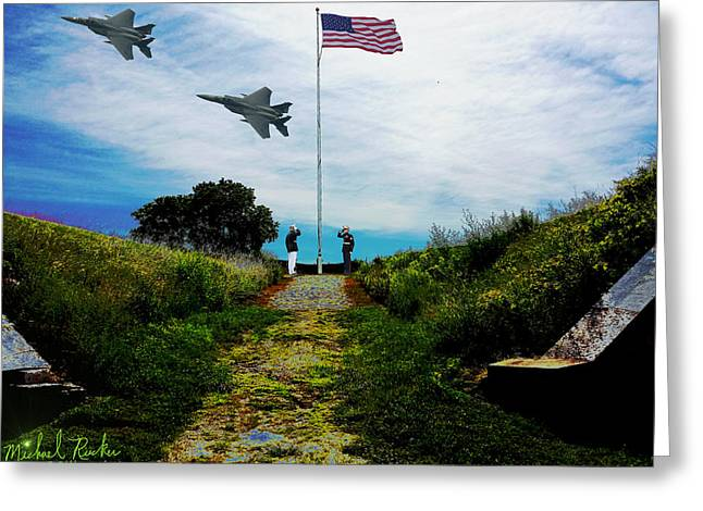 Civil War Site Greeting Cards - Fort Wayne - Detroit Greeting Card by Michael Rucker