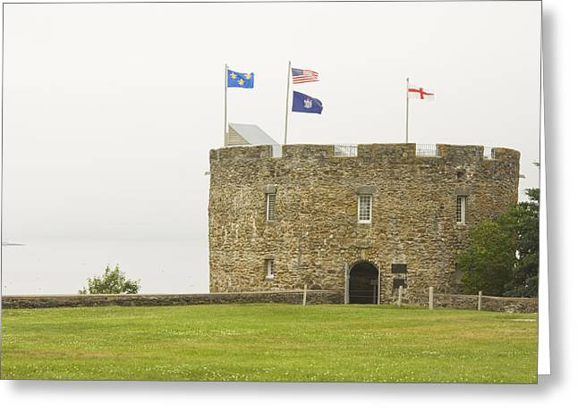 Strong America Greeting Cards - Fort William Henry Bristol Maine Greeting Card by Keith Webber Jr