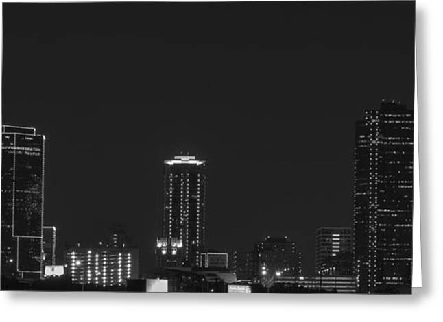 Metroplex Greeting Cards - Fort Worth Outline  Greeting Card by Jonathan Davison