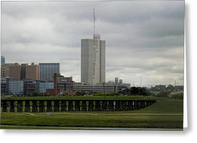 Metroplex Greeting Cards - Fort Worth Panorama Greeting Card by Jonathan Davison