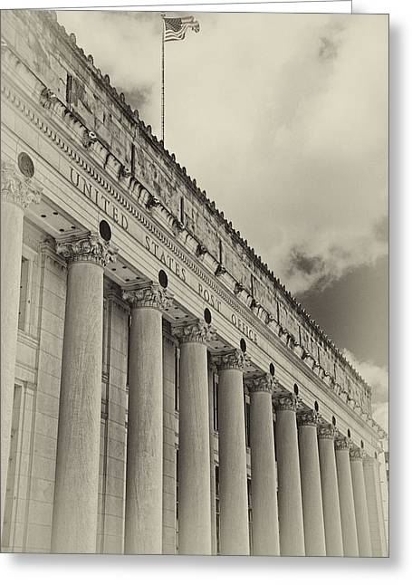 Postal Greeting Cards - Fort Worth Post Office Greeting Card by Joan Carroll