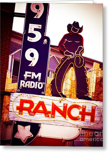 Sonja Quintero Greeting Cards - Fort Worth Radio Greeting Card by Sonja Quintero