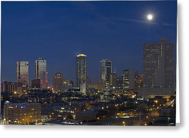 Ft Worth Greeting Cards - Fort Worth Skyline 3 Greeting Card by Rob Greebon