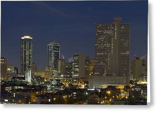 Ft Worth Greeting Cards - Fort Worth Skyline 5 Greeting Card by Rob Greebon