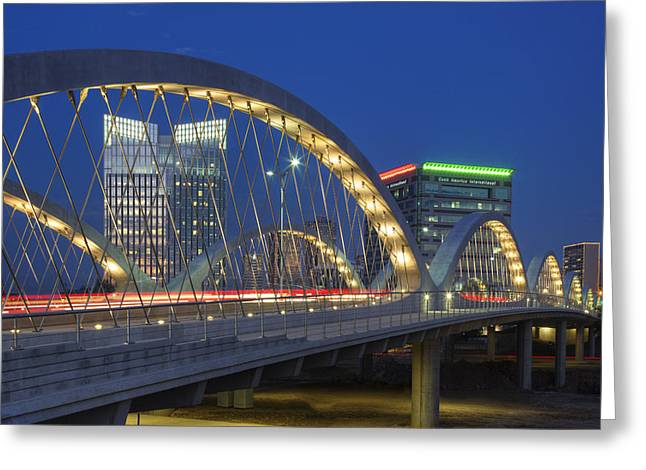 7th Greeting Cards - Fort Worth Texas Images - Seventh Street Bridge 3 Greeting Card by Rob Greebon
