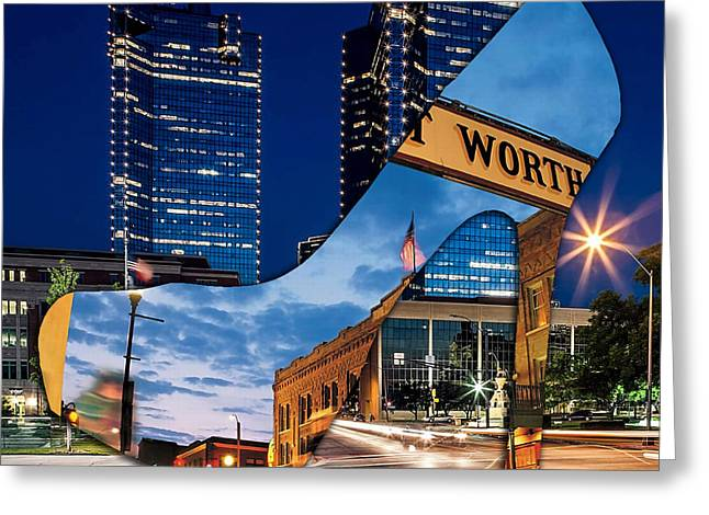 Shoe Greeting Cards - Fort Worth Texas Greeting Card by Marvin Blaine